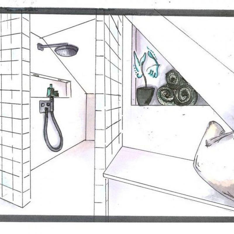 Referenz - Dachgeschoss-Badezimmer in Hamburg Wentorf  -01- vorher
