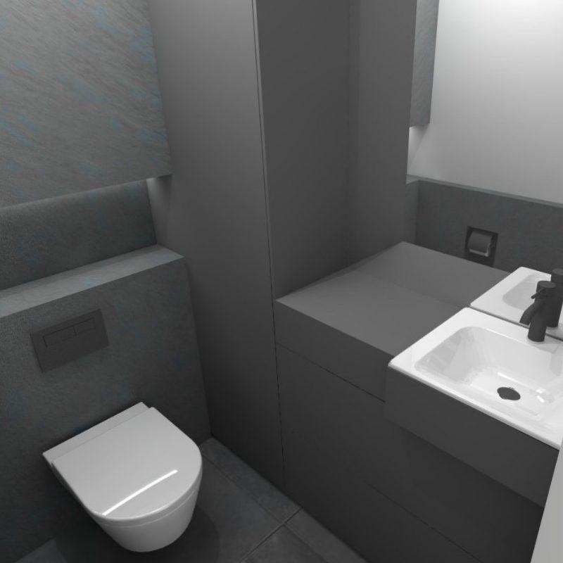 Referenz - Gäste-WC im Boho-Style in Hamburg Mundsburg -02- vorher