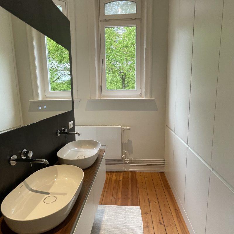 Referenz - Wie In Bergedorf aus einem Schlafzimmer ein Badezimmer wurde -03- nachher